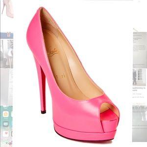 Pink platform louboutins size 37